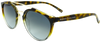 yellow tortoise shell fade to clear round frame sunglasses with ash grey lens