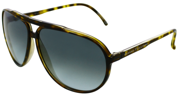 Tortoise shell aviator frames with ash grey lenses