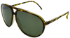 tortoise shell aviator frames with black mirror lenses