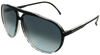 Black tortoise shell aviator sunglasses with ash grey lenses