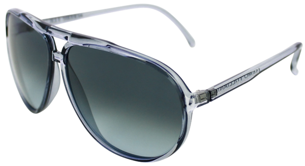 clear blue ice aviator frames with ash grey lens