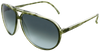 green tortoise shell aviator frames with ash grey lens