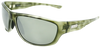 green tortoise shell classic sport frame sunglasses with silver mirror lenses