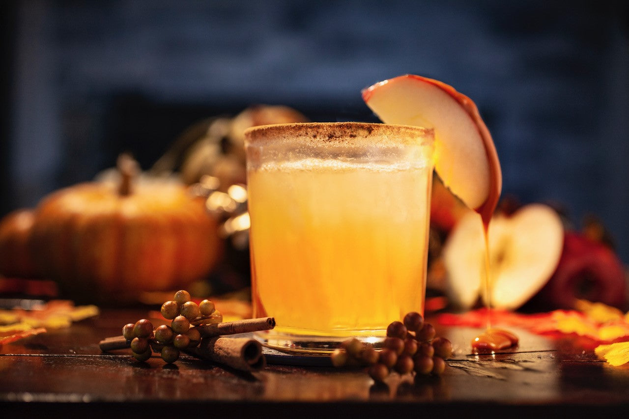 Cat Cora's Iced Caramel Apple Cider Margaritas