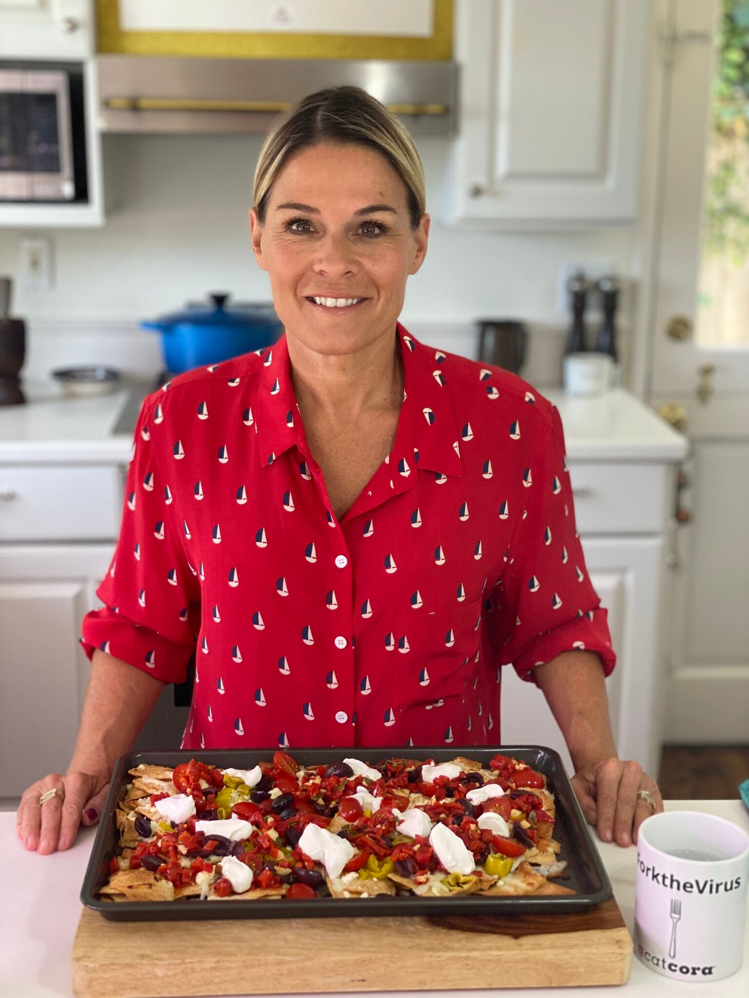 Cat Cora's Greek Style Nachos