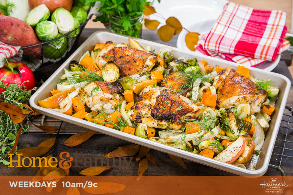 Cat Cora's Fall Sheet Pan Chicken