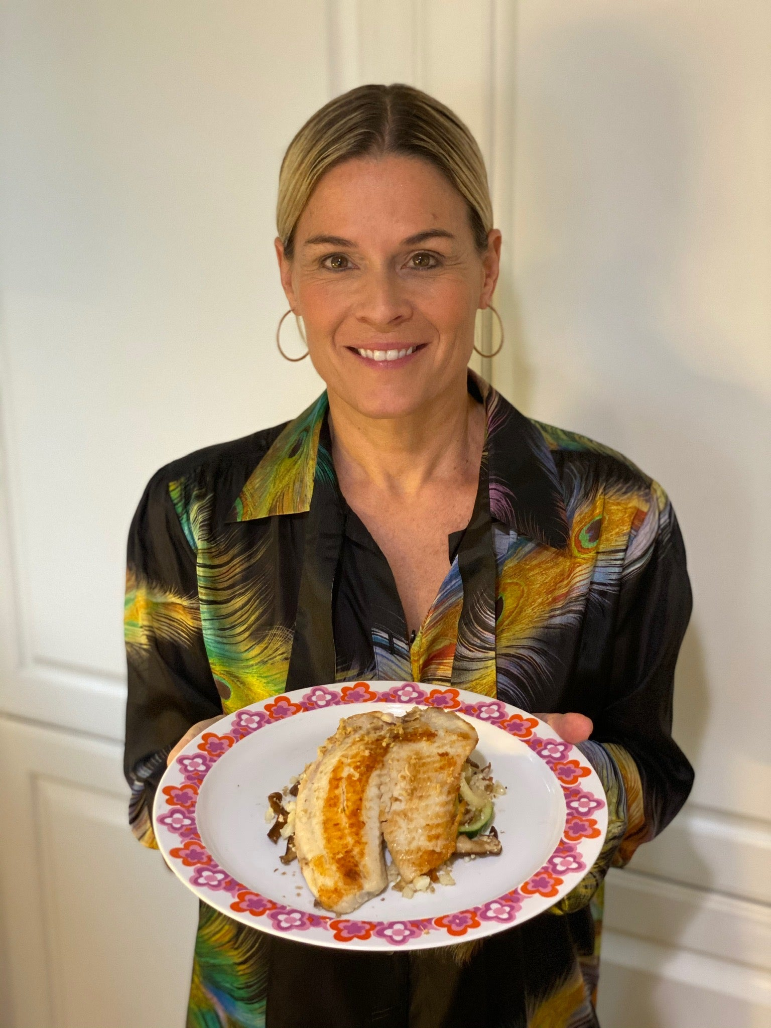 Cat Cora's Healthy Lemony Tilapia with Mushroom, Zucchini and Cauliflower Rice