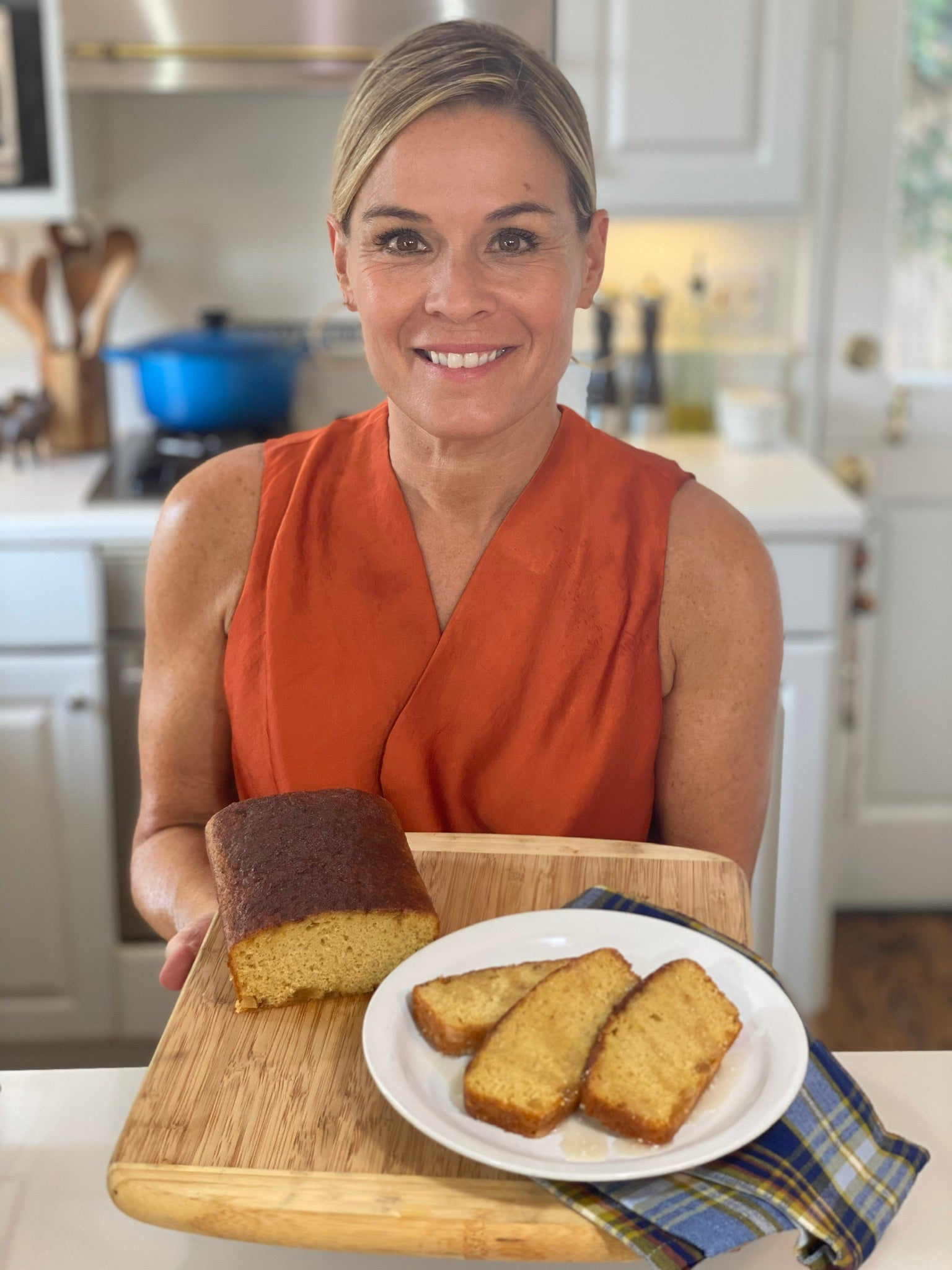 Cat Cora's Apple Cider & Candied Ginger Loaf Cakes with Apple Cider Glaze Dipping Sauce