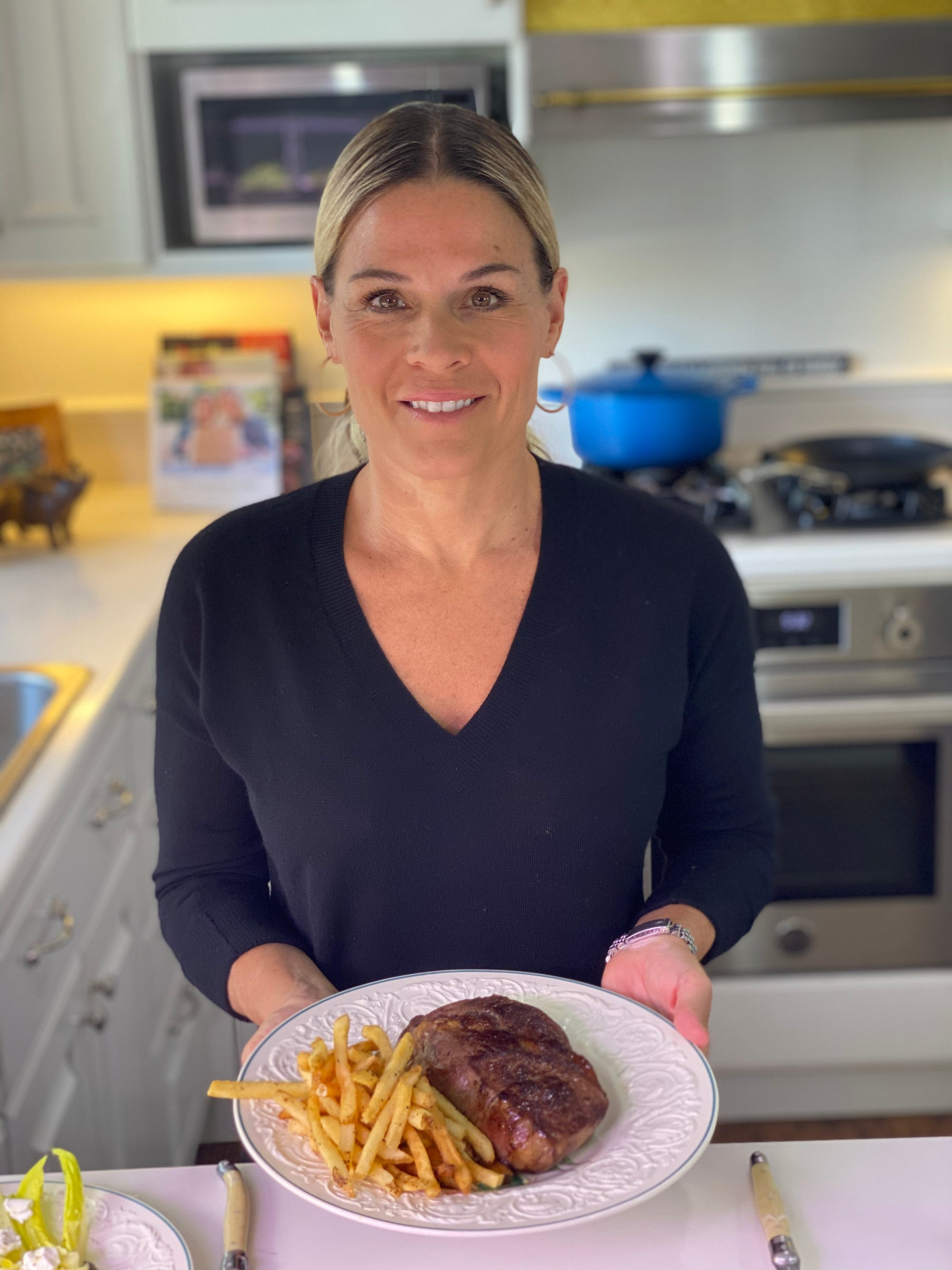 Cat Cora's Steak Frites with Herb Mayonnaise