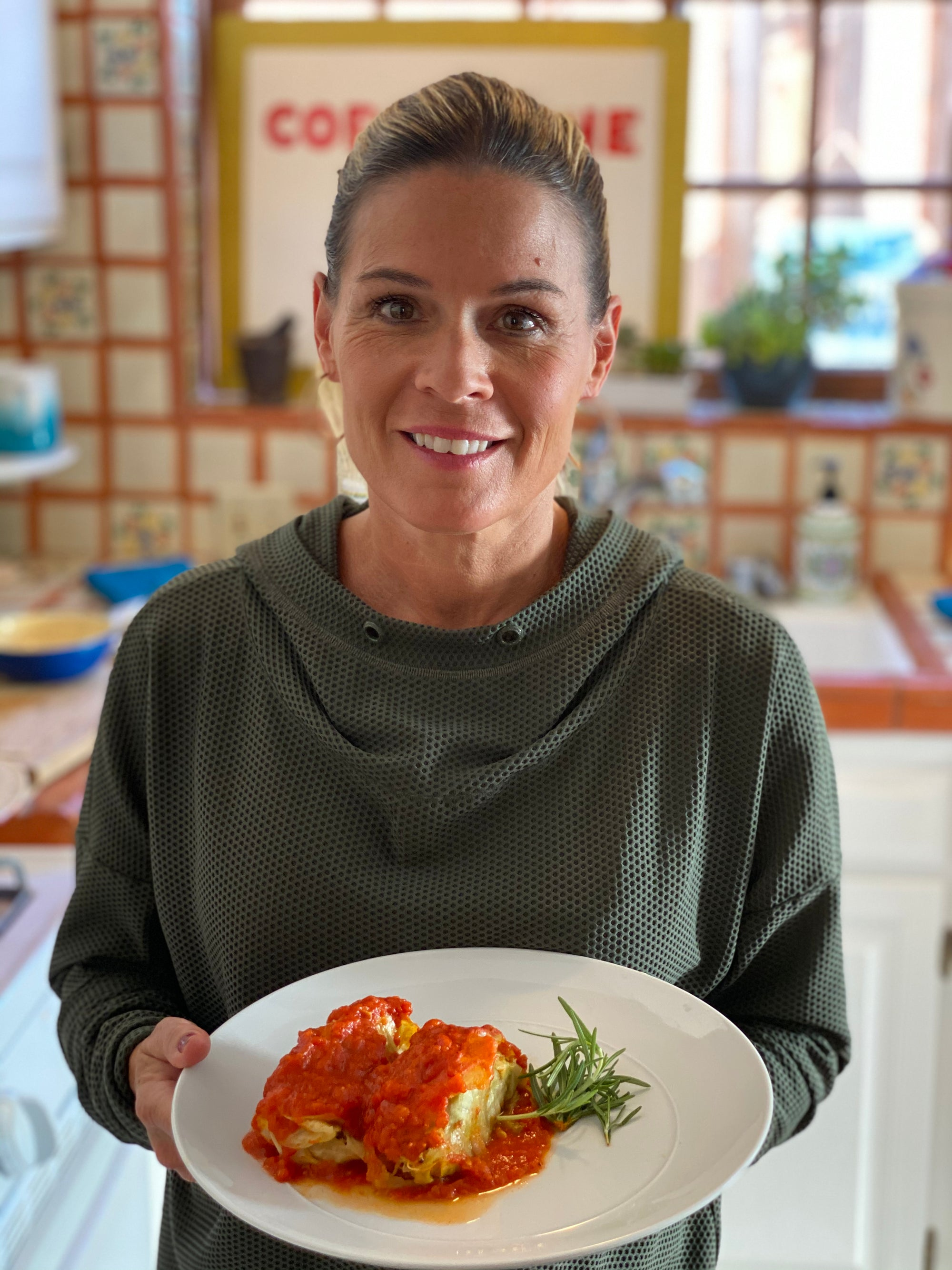Cat Cora's Sweet and Sour Stuffed Cabbage With Turkey and Brown Rice