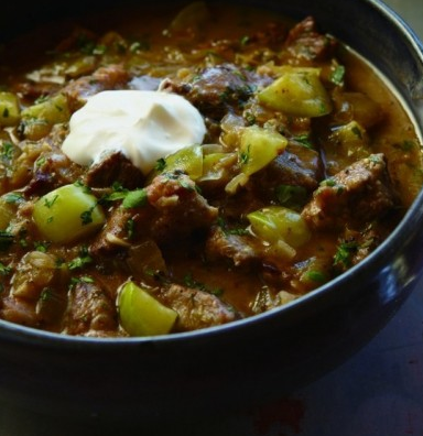 Tomatillo and Lamb Stew