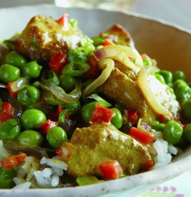 Easy Chicken Curry With Peas