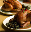 Pomegranate-Glazed Cornish Hens