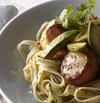 Fettuccine with Scallops, Avocado & Lime