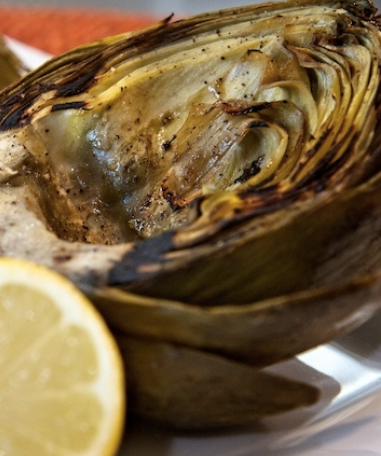 Grilled Artichokes with Caper Aioli