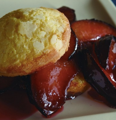 Roasted Plum Shortcakes