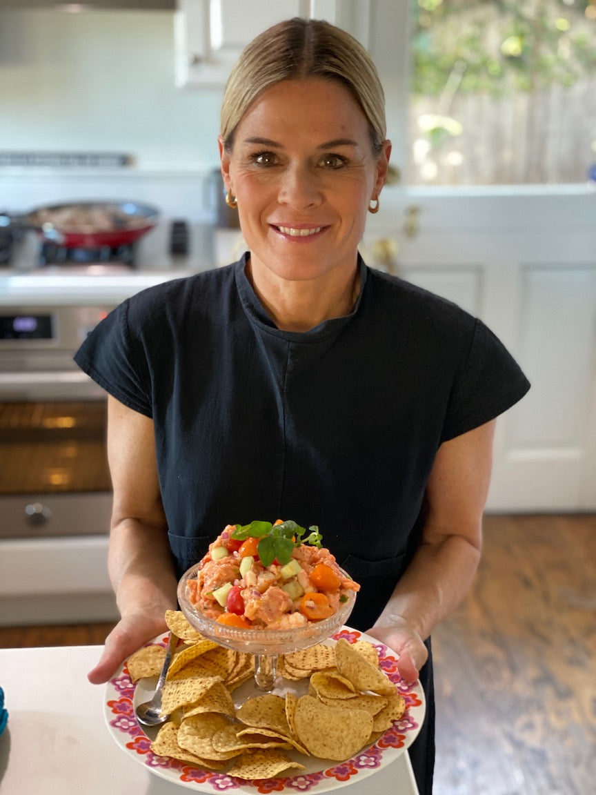 Cat Cora's Salmon and Shrimp Ceviche