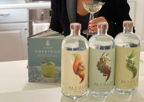 Cat Cora and Seedlip Drinks