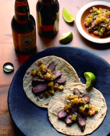 Chile Lime Flank Steak Tacos