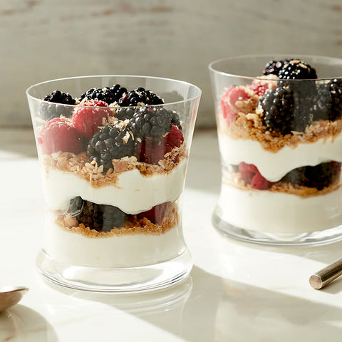 Coconut Graham Berry Yogurt Parfait