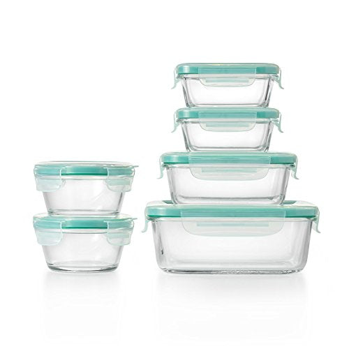 OXO Good Grips 12 Piece Glass Container Set