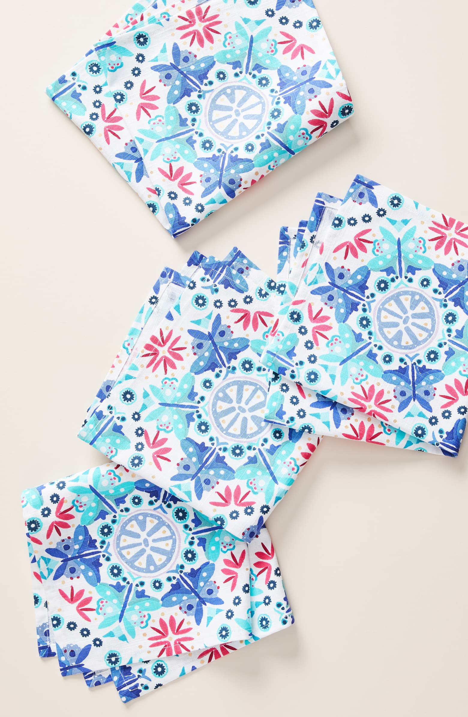 Anthropologie Nesma Set of 4 Napkins