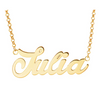 """Julia"" Gold Nameplate Necklace"