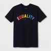 Pride Adult Short Sleeve Rainbow Equality T-Shirt - Navy
