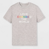 Pride Kids' Short Sleeve Love Changes The World T-Shirt - Calm Gray