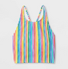 Pride Adult Striped Tankini Top