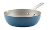 Ayesha Curry™ Home Collection Porcelain Enamel Nonstick Chef Pan With Pour Spouts