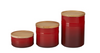 LE CREUSET STORAGE CANISTERS, SET OF 3