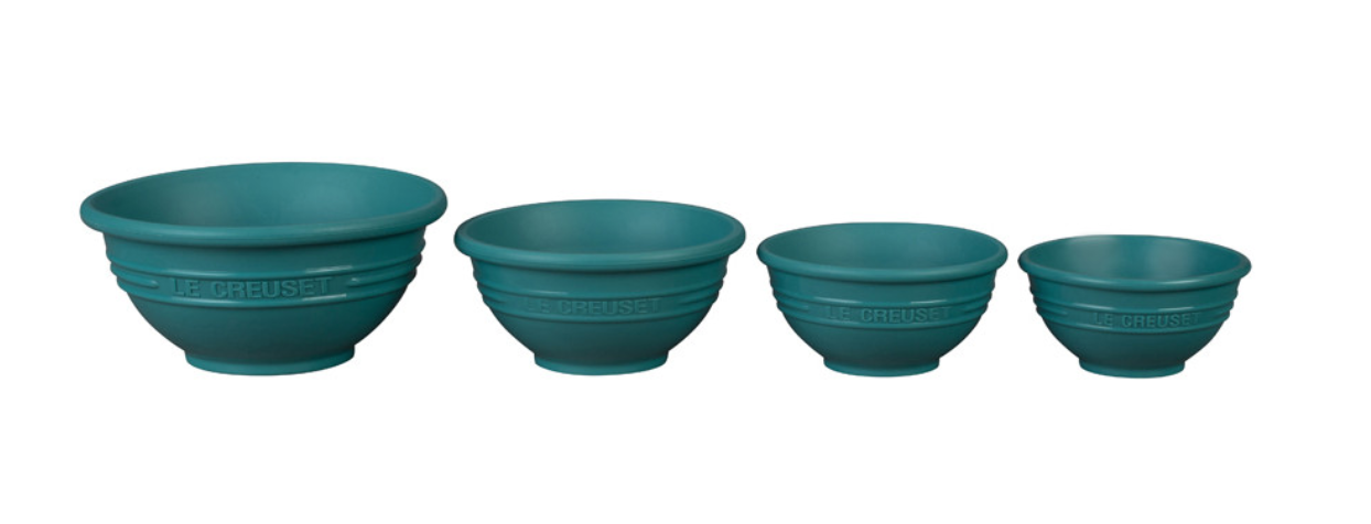 LE CREUSET PREP BOWLS, SET OF 4 in Caribbean