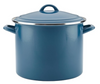 Ayesha Curry Home Collection Enamel on Steel Stockpot in Twilight Teal