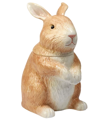 Bunny Patch Collection Earthenware Rabbit Cookie/Candy Jar 40oz