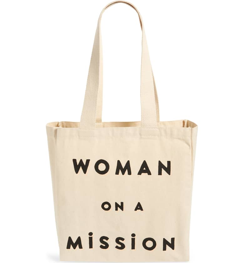Feed Woman on a Mission Canvas Tote