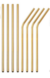 Stainless Steel Drinking Straws, Gold Reusable Drink Straw