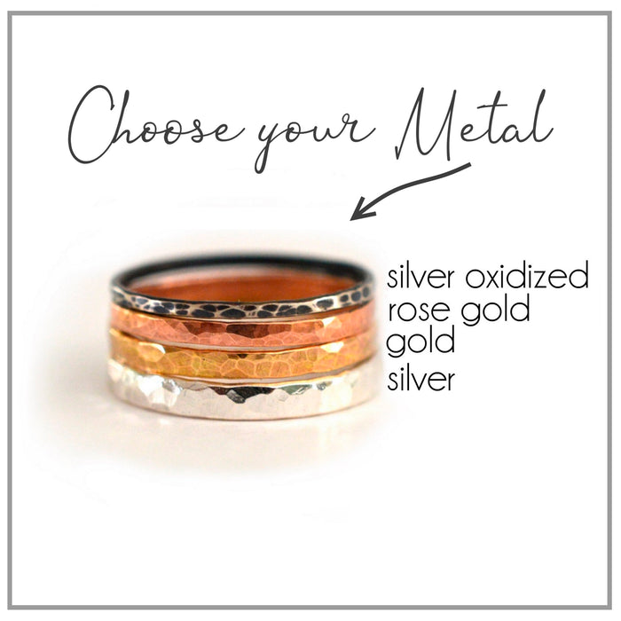 Gold Hammered Cuff Ring
