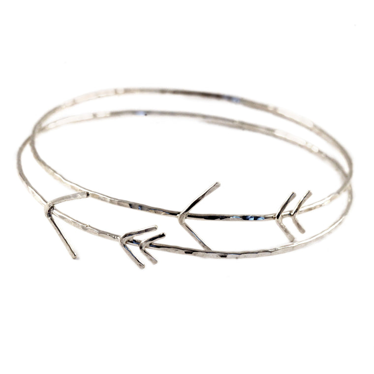 Hammered Arrow Bangle