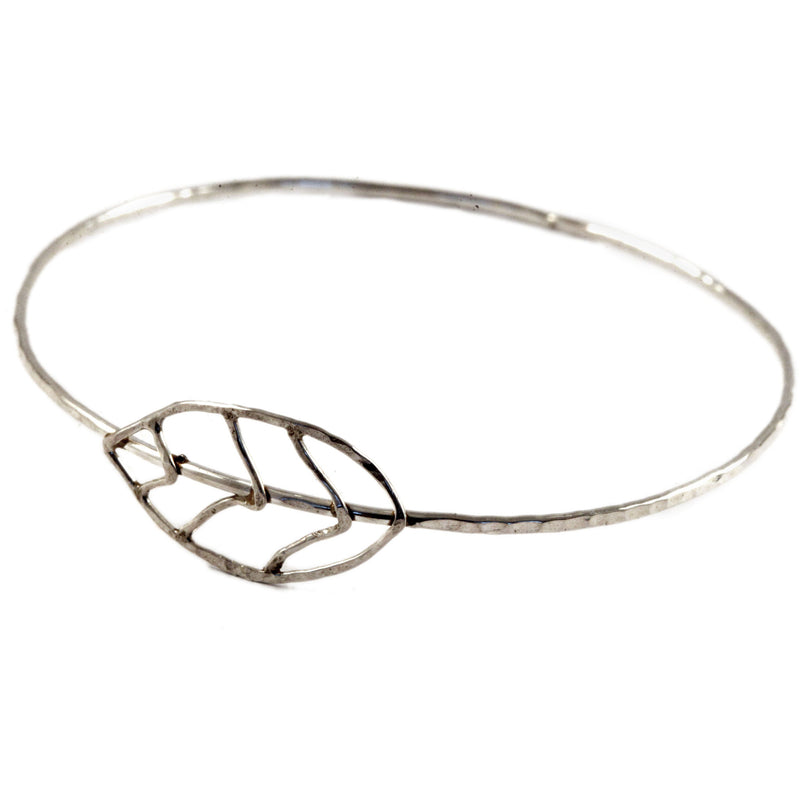 Hammered Leaf Bangle