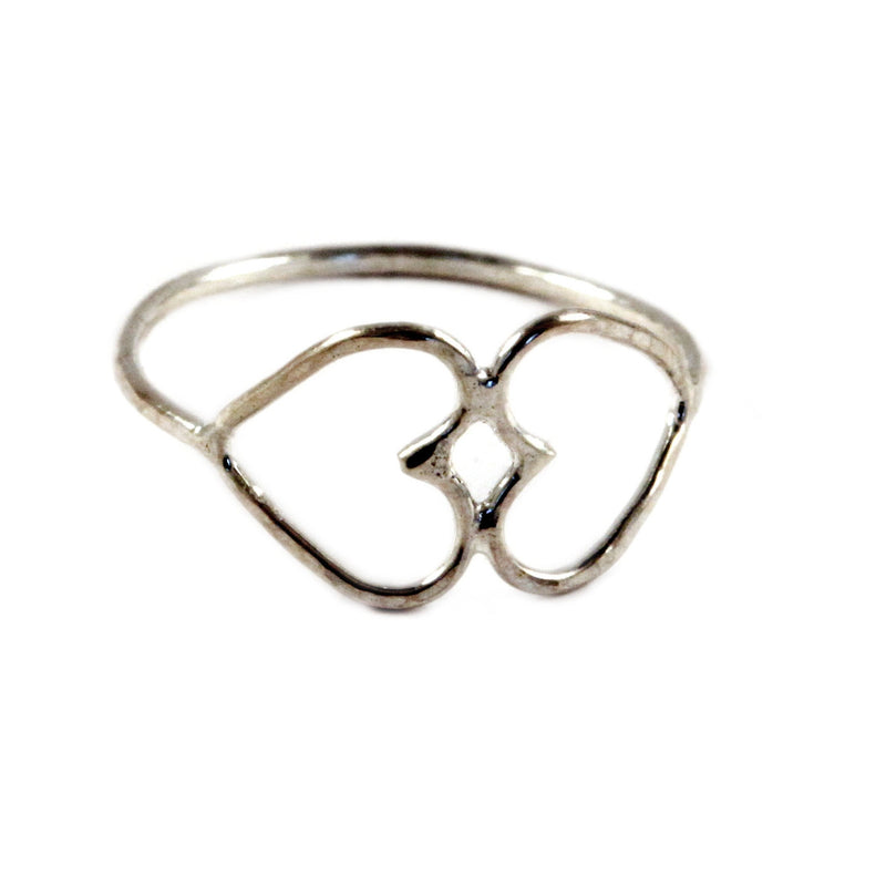 Hammered Double the Love Ring