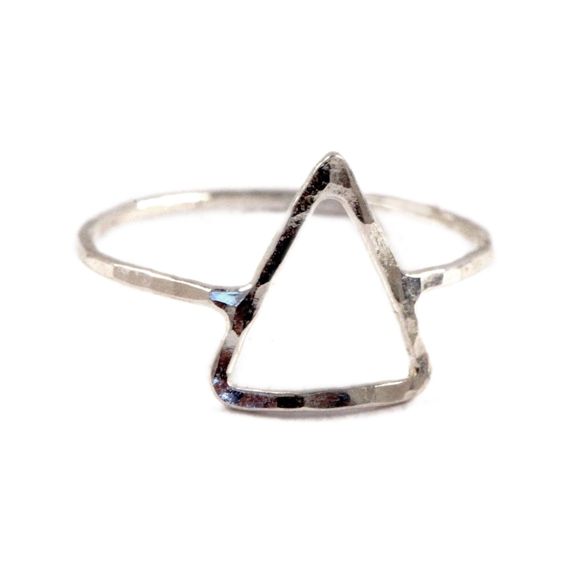 Hammered Triangle Ring