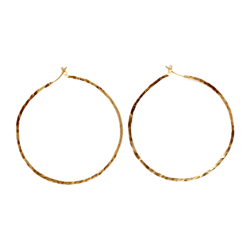 skinny hoop earrings, aquarian thoughts jewelry