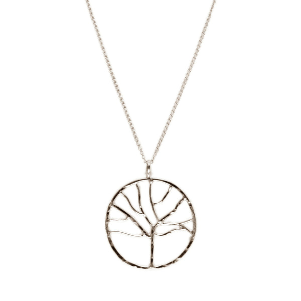 "Hammered ""Tree of Life"" Pendant Necklace"