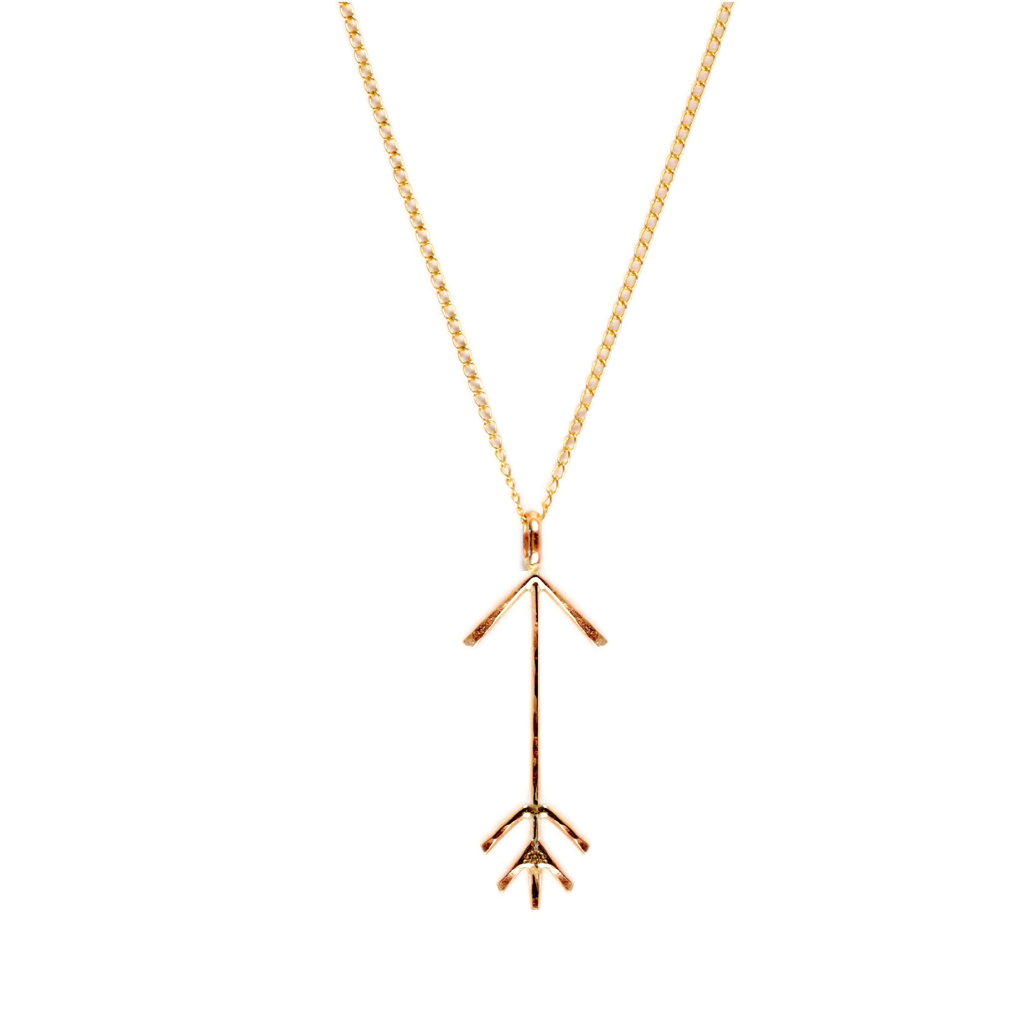 Hammered Arrow Pendant Necklace