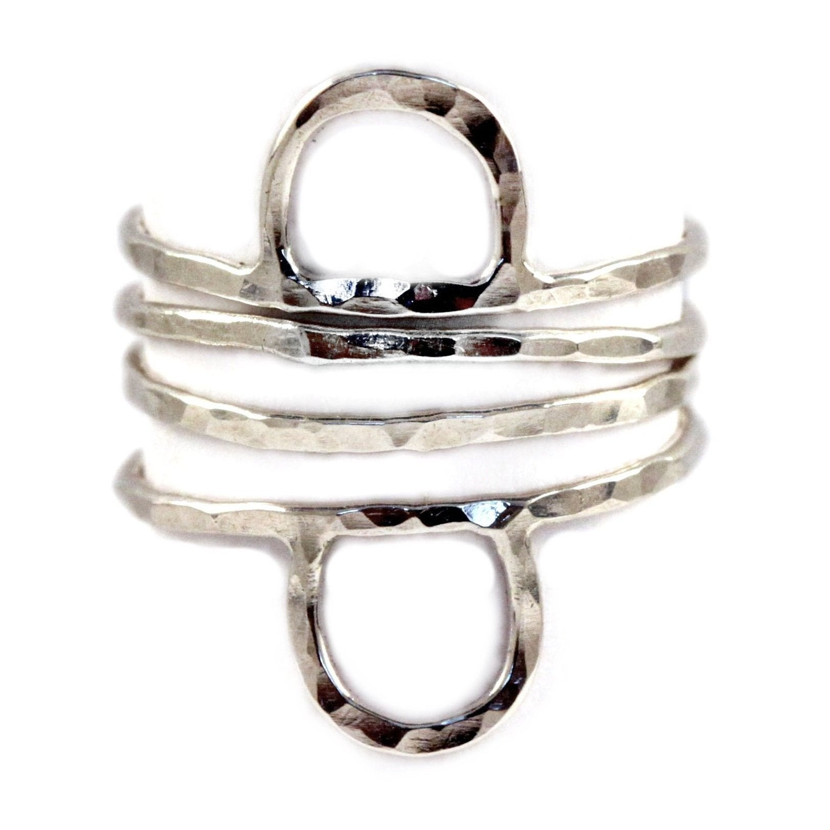 silver stacking ring set, aquarian thoughts jewelry