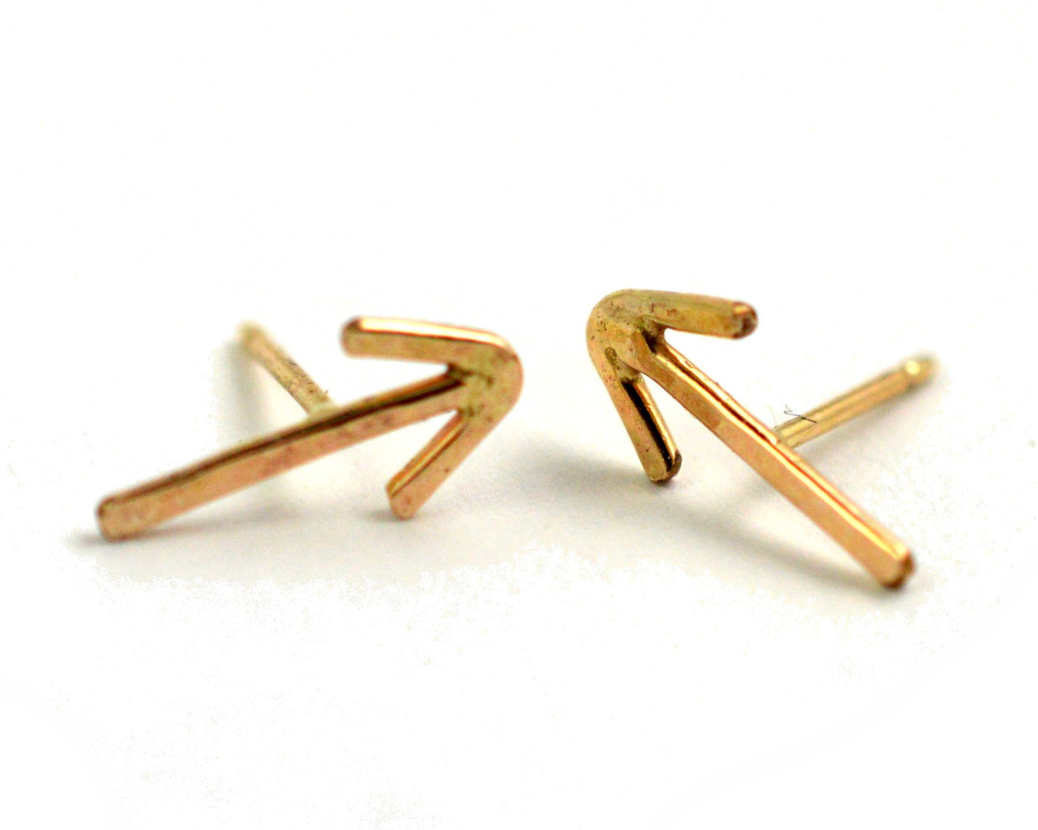 arrow stud earrings, aquarian thoughts jewelry