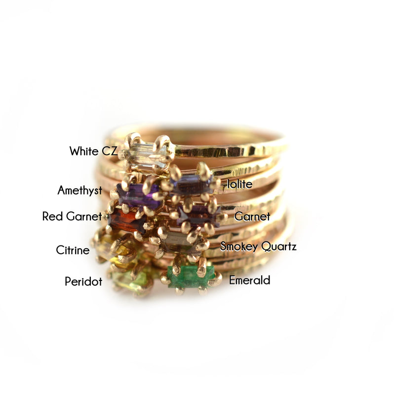 Baguette Gemstone Ring