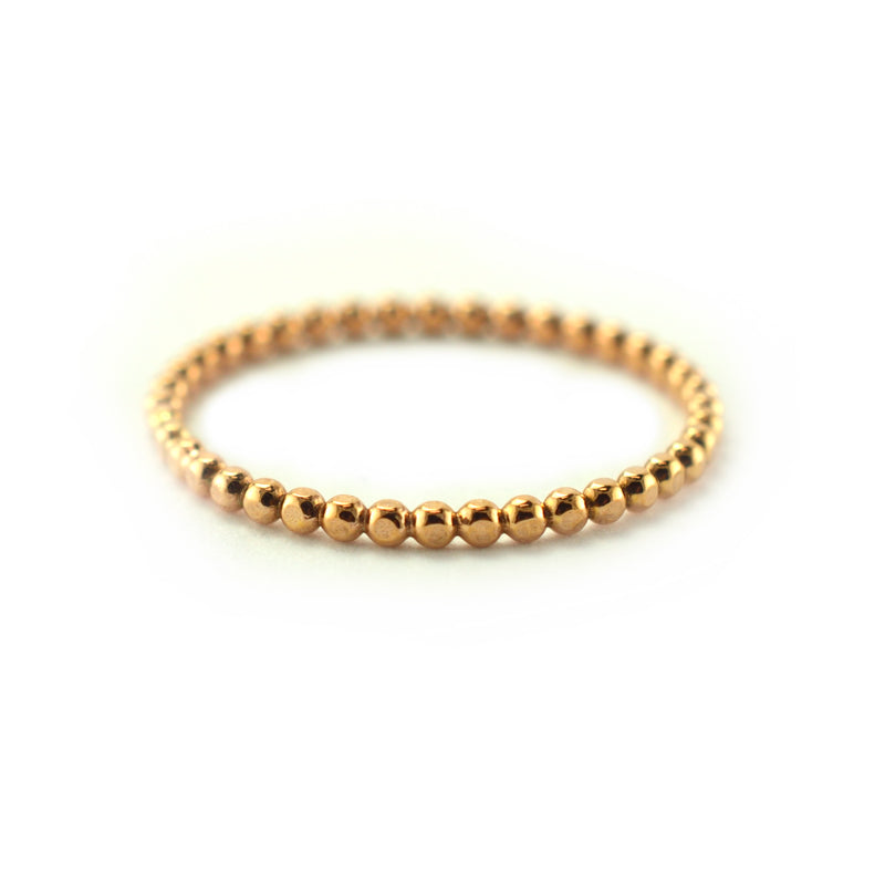 Thin Beaded Stacking Ring