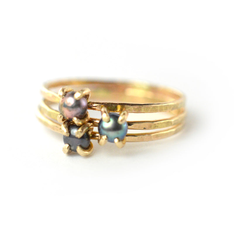 Black Pearl Ring by Aquarian Thoughts Jewelry